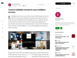 Custom exhibition stands for your exhibition success