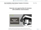 Generate new opportunities for business with exhibition stand builders