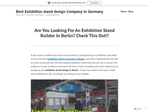 Are You Looking For An Exhibition Stand Builder In Berlin? Check This Out!!
