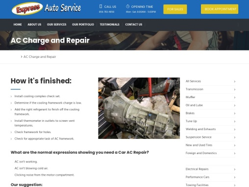 AC Charge and Repair   Express Auto Services