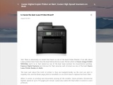 Is Canon the best Laser Printer Brand?