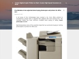 Five Mistakes to be neglected when buying photocopier and printers for office use |
