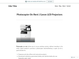 Photocopier On Rent  | Canon LCD Projectors