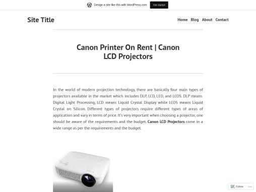 Canon Printer On Rent    Canon LCD Projectors
