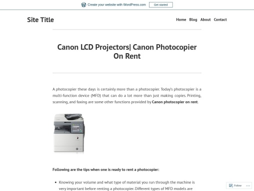 Canon LCD Projectors| Canon Photocopier On Rent