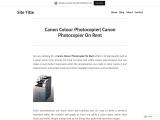Canon Colour Photocopier| Canon Photocopier On Rent