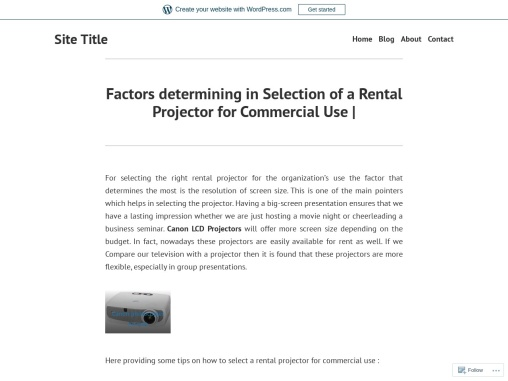 Factors determining in Selection of a Rental Projector for Commercial Use