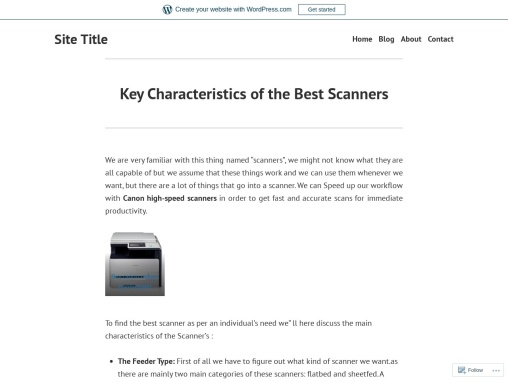 Key Characteristics of the Best Scanners