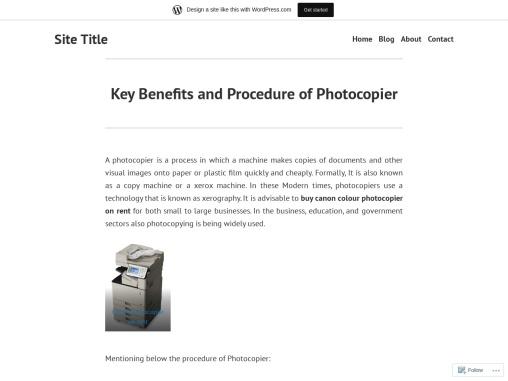 Key Benefits and Procedure of Photocopier