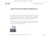 Copier VS Scanner: What's the Difference?