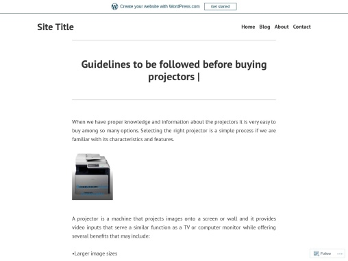 Guidelines to be followed before buying projectors |