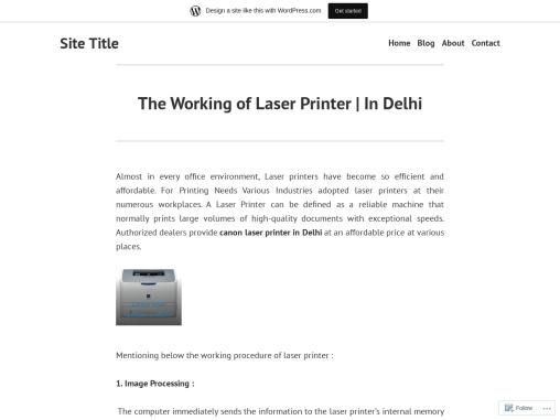 The Working of Laser Printer | In Delhi