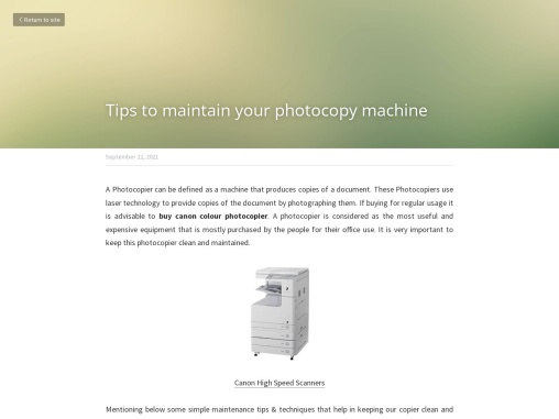 Tips to maintain your photocopy machine