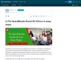 Fix QuickBooks Event ID 4 Error in easy steps