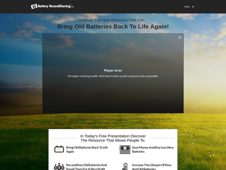 EZ Battery Reconditioning Coupons and Discounts February 2021 screenshot
