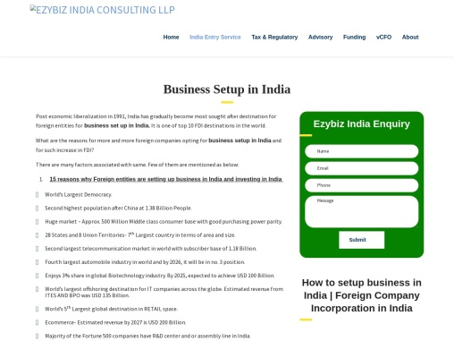 Business Set up In India   Setting up a business in India