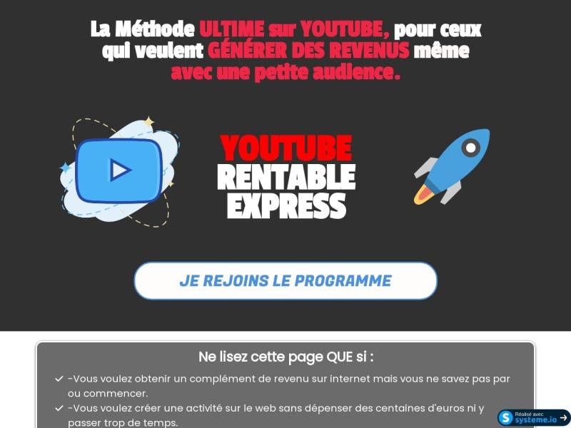 explosez sur youtube avec youtube rentable express