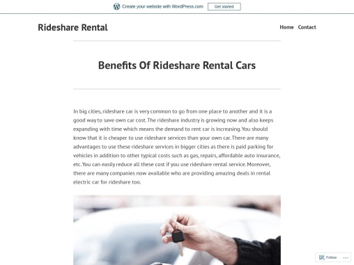 Benefits Of Rideshare Rental Cars