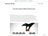 Cars On Lease Vs Rent To Own Cars