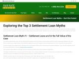 Settlement Loan Myths – Don't Be Fooled