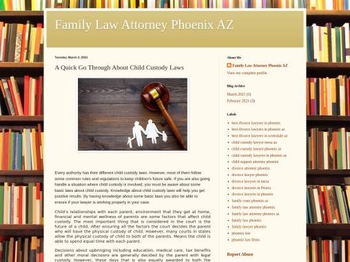 A Quick Go Through About Child Custody Laws