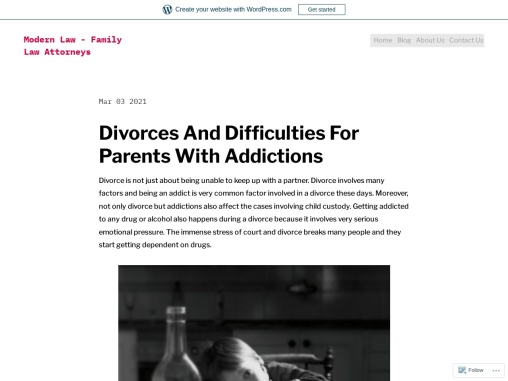 Divorces And Difficulties For Parents With Addictions