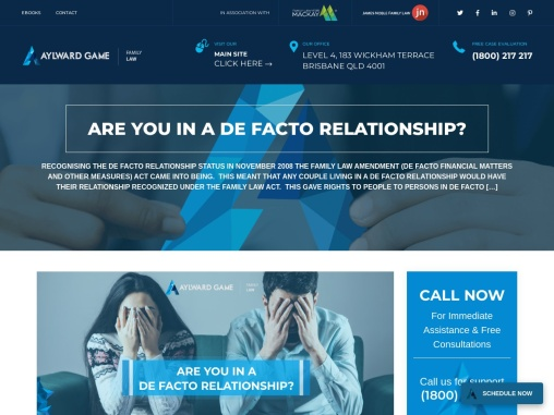 ARE YOU IN A DE FACTO RELATIONSHIP?