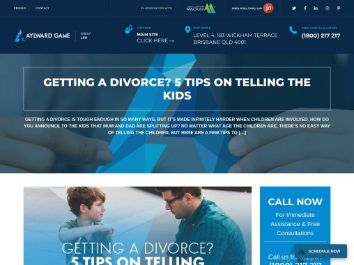 GETTING A DIVORCE? 5 TIPS ON TELLING THE KIDS