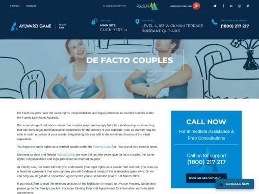 De Facto Couples | family court brisbane