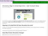 Ancestry Sign In Support – Ancestry FAQ Full Guide 2021