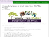 Connectivity Issues in family tree maker 2017 Mac Version