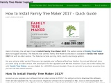 Complete Guide For Install Family Tree Maker 2017