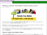 Making a family tree online using canva