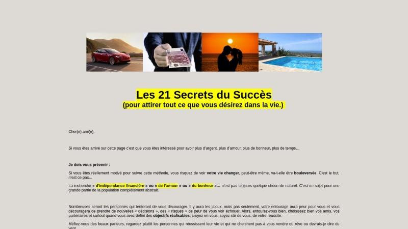 les 21 secrets du succes.