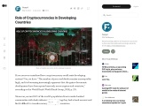 Role of Cryptocurrencies in Developing Countries