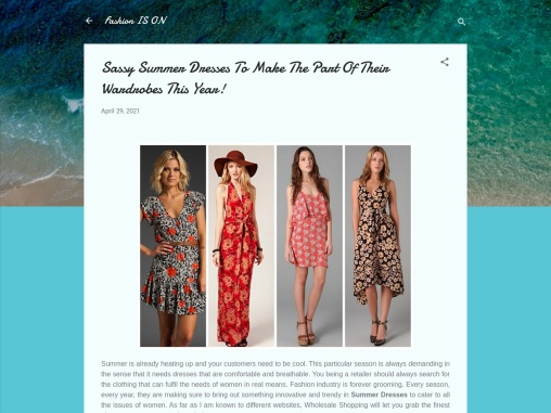 Best Summer Dresses – New Printed Style Summer Dresses For Ladies!