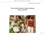 Ladies Italian Clothing Store – Crazy Tips to Start a Italian Clothing Wholesaler Business