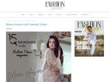 Meera Ansari with Fashion Times