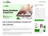 Learn how to resolve QuickBooks Firewall Error?