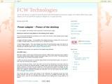 Power adapter – Power of the desktop