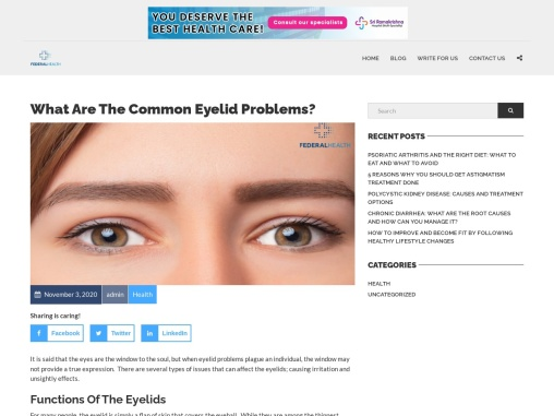 A Guide To Eyelid Problems – Federalhealth.net
