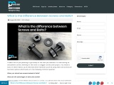Feedly –What is the Difference Between Screws and Bolts?