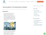 TRACEABILITY IN MANUFACTURING | Felidae Systems