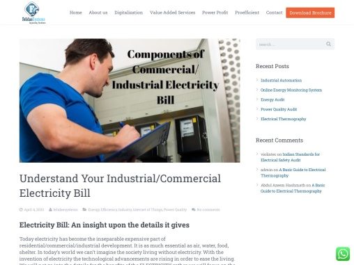 Understand Your Industrial/Commercial Electricity Bill   Felidae Systems