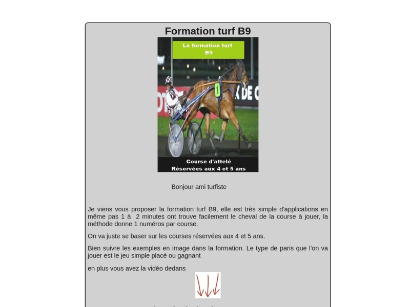 formation turf b9 course d'attele
