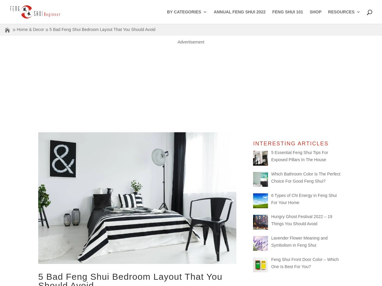 5 Bad Feng Shui Bedroom Layout That You Should Avoid