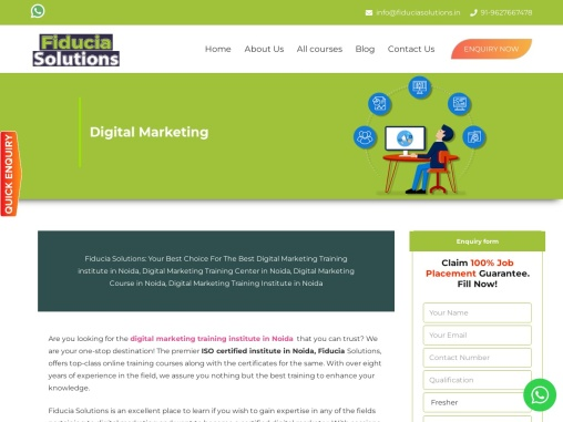 Digital marketing training institute in Noida