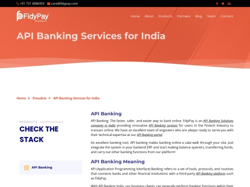 Connect Easily with FidyPay API Banking