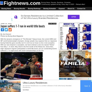 Boxing News: Japan suffers 1-7 run in world title bouts » June 27, 2019