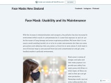 Importance of Face masks in NZ